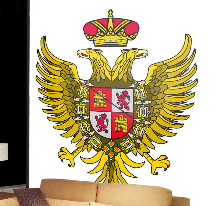 TenStickers. Wandtattoo Emblem Toledo. Dekorieren Sie Ihr Zuhause mit diesem Emblem von Toledo als Wandtattoo! Damit bringen Sie Stil und Geschichte an Ihre Wände