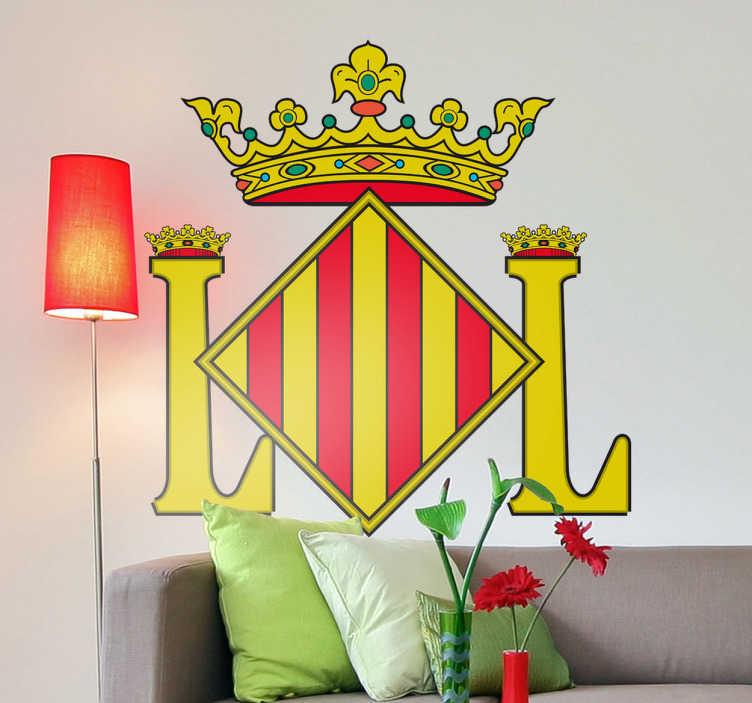 TenStickers. Wandtattoo Emblem Valencia. Dekorieren Sie Ihr Zuhause mit diesem Emblem von Zamora als Wandtattoo! Damit bringen Sie Stil und Geschichte an Ihre Wände