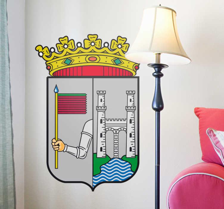 TenStickers. Wandtattoo Emblem Zamora. Dekorieren Sie Ihr Zuhause mit diesem Emblem von Zamora als Wandtattoo! Damit bringen Sie Stil und Geschichte an Ihre Wände
