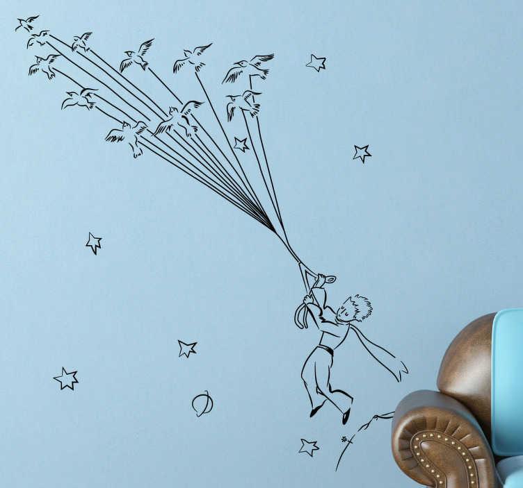 Sticker Enfant Le Petit Prince Envol - Tenstickers