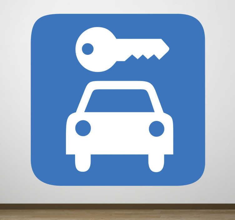 TenVinilo. Adhesivo señal garaje. Representación iconográfica en pegatina de un aparcamiento de coches.