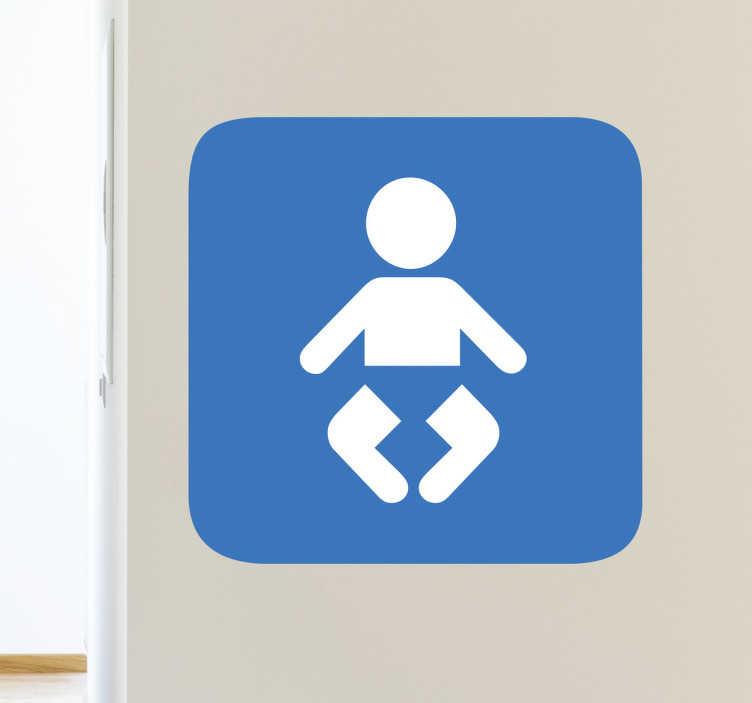 TENSTICKERS. 赤ちゃんの変更バスルームのサイン. この赤ちゃんの看板ステッカーは、赤ちゃんが内部で交換できるドアのためのものです。赤ちゃんを変更するステッカーは、企業、レストラン、店舗、公共の場所で使用されます。