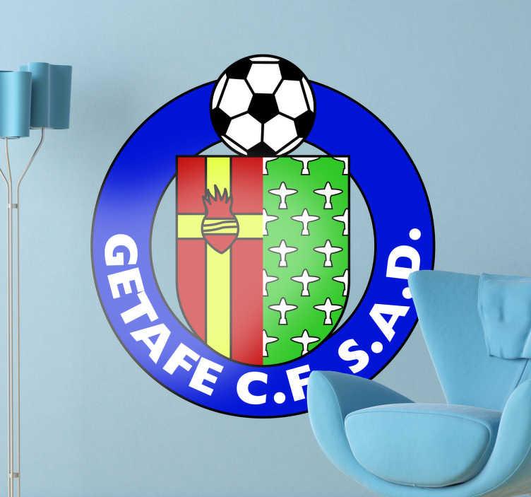 TenVinilo. Vinilo decorativo escudo Getafe. Vinilo decorativo del Getafe. Equipo de futbol español con una trayectoria consolidada en primera división.