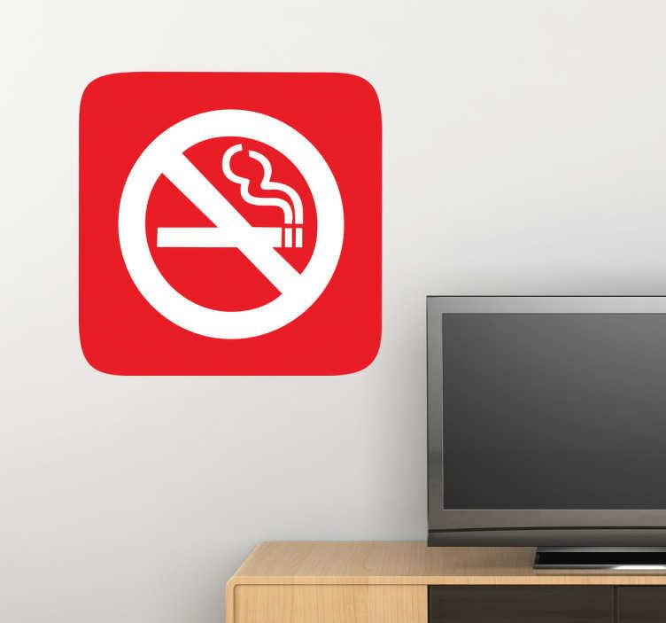TenStickers. Naklejka znak zakaz palenia. Naklejka na ścianę znak zakaz palenia. Naklejki na ścianę zakazujące palenia na danym terenie.