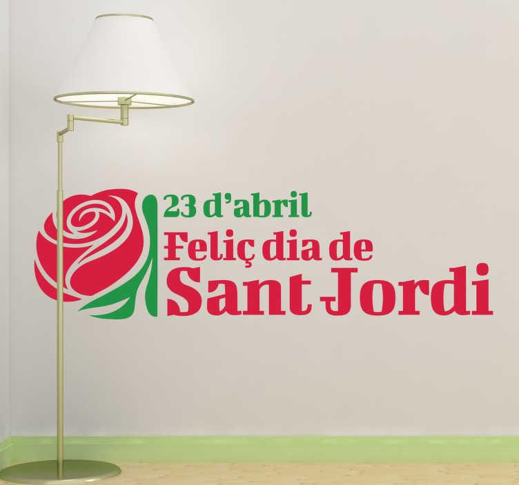 Adhesivo decorativo 23 Sant Jordi