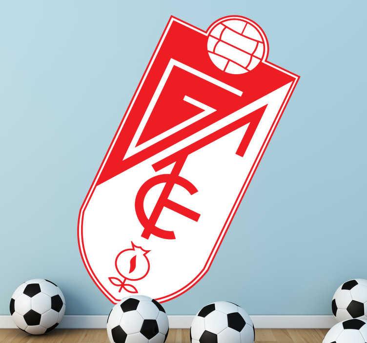 TenVinilo. Vinilo decorativo escudo Granada futbol. Adhesivo decorativo del Granada Fútbol Club. Para los hinchas que quieren llevar los colores allá donde van.