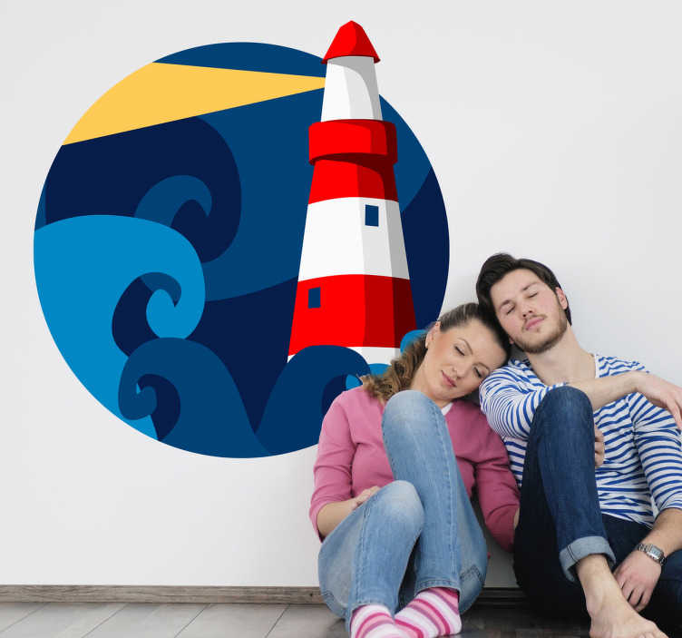 Sticker enfant dessin phare
