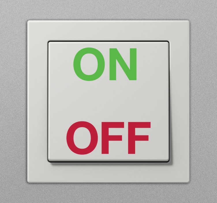 Vinil interruptor on off