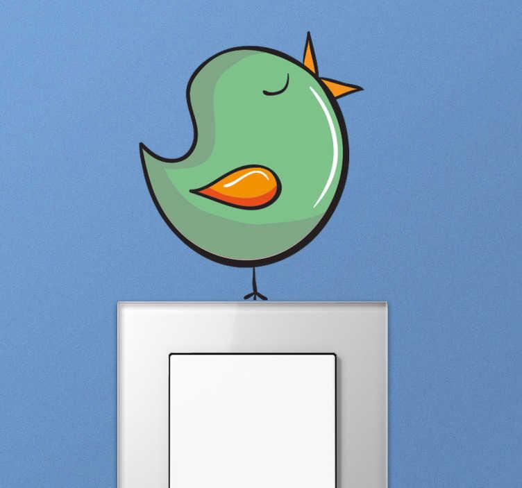 Singing Bird Light Switch Sticker
