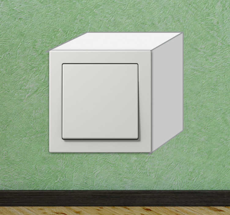 TenVinilo. Vinilo interruptor simulación cubo. Pegatina con la que crearás un divertido efecto tridimensional en tu enchufe.*Las medidas indicadas corresponden al  tamaño del interruptor. Si requieres otra medida contacta con nosotros  en %email%