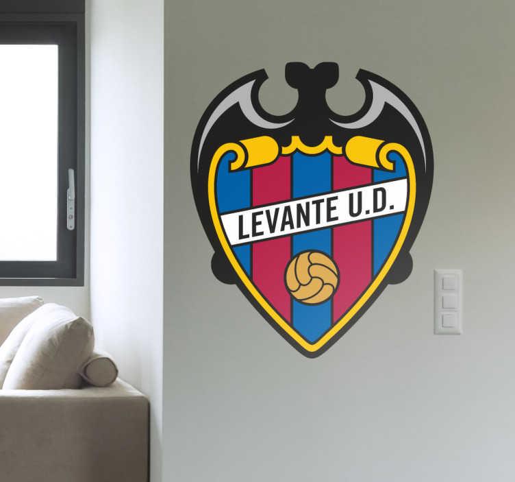 TenVinilo. Vinilo decorativo escudo Levante UD. Vinilo decorativo con el escudo del Levante. Para personalizar tu hogar con los colores que sientes.