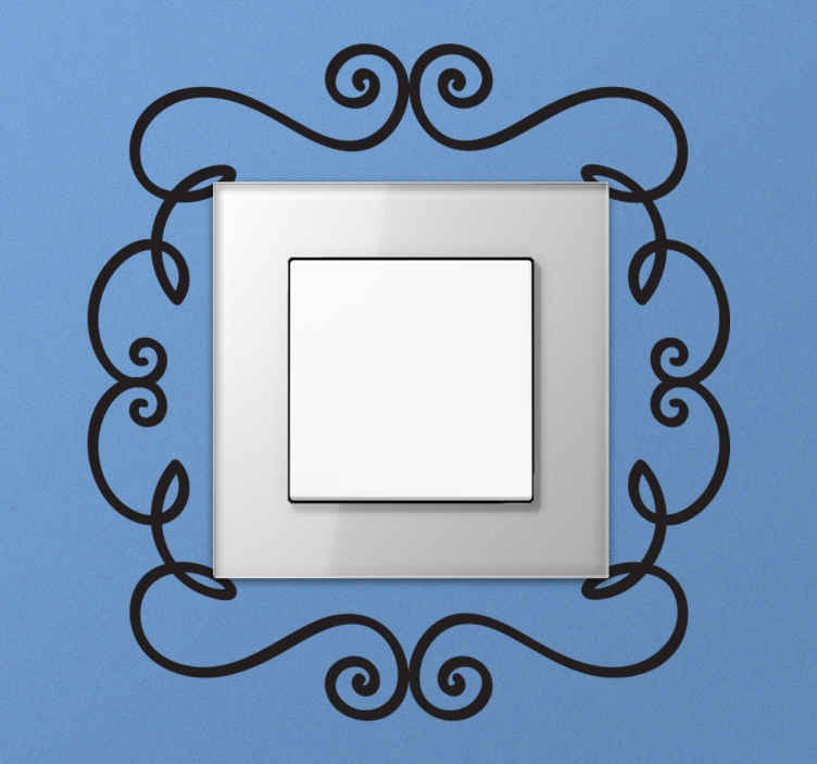 TenStickers. Ornament Switch Frame Wall Sticker. A light switch frame decal illustrating a floral design. A brilliant sticker to give your home a special touch, every little decoration helps!