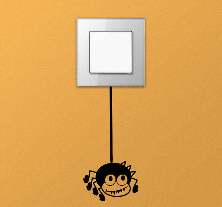 TenStickers. Spider Light Switch Decal. A light switch sticker illustrating a friendly spider that will make your switch look very attractive and fun!