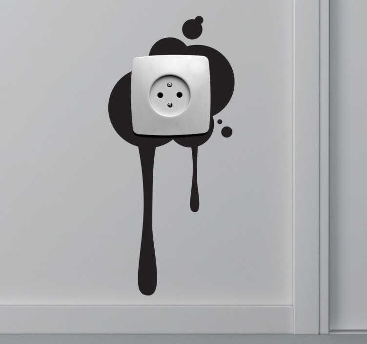 TenStickers. Sticker interruttore macchia su parete. Adesivo monocolore per decorare gli interruttori di casa.