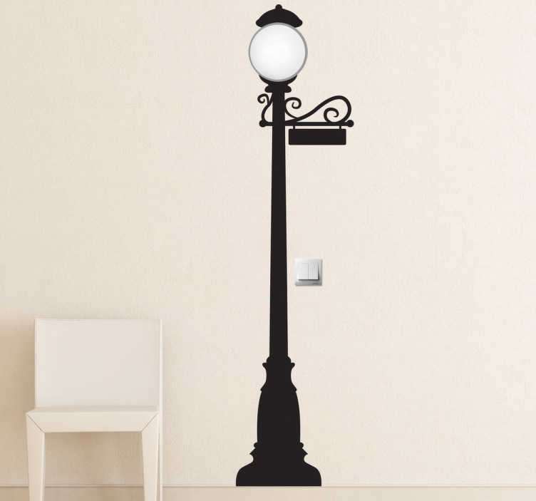 TenStickers. Street Light Wall Sticker. A vintage wall sticker of an elegant street light that will give your home a magnificent atmosphere and a classical look.