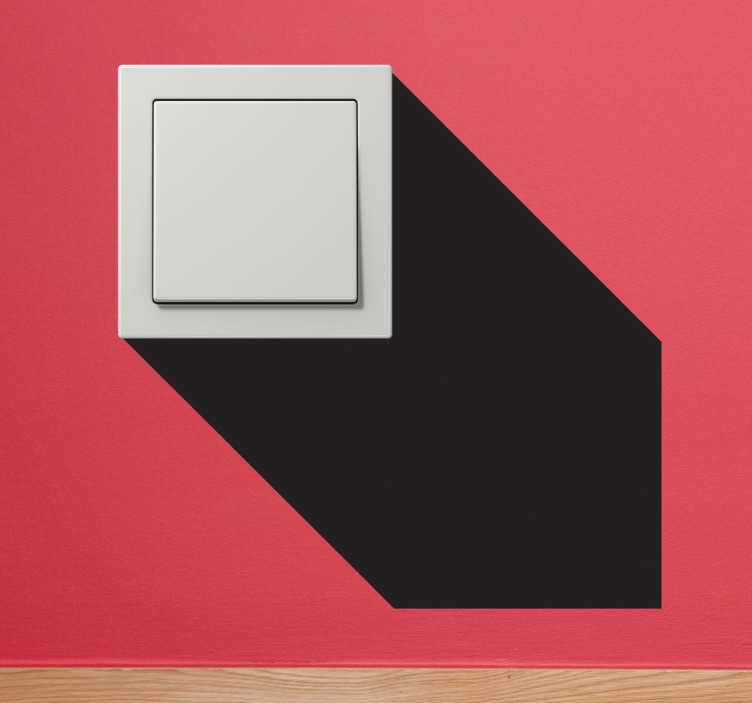 TenStickers. Sticker schaduw lichtschakelaars. Versier de lichtschakelaars en stopcontacten in je woning met deze originele muursticker.