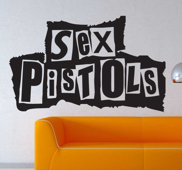 TenStickers. Sticker logo Sex Pistols. Stickers mural illustrant le logo du groupe de Punk britannique Sex Pistols.