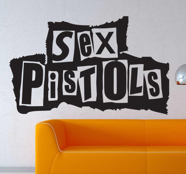 Adesivo murale logo Sex Pistols