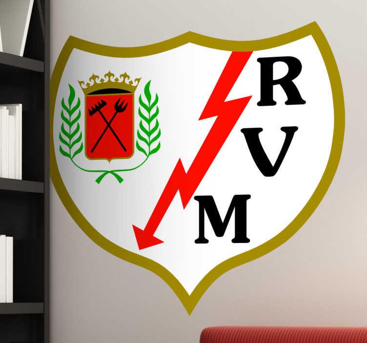 Vinilo decorativo escudo Rayo Vallecano