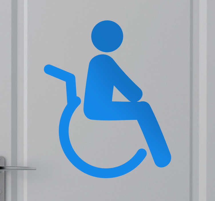 TenStickers. Disabled Icon Sticker. An icon decal to indicate disabled spaces such as a bathroom. Decorate the appropriate place with this decorative sticker.