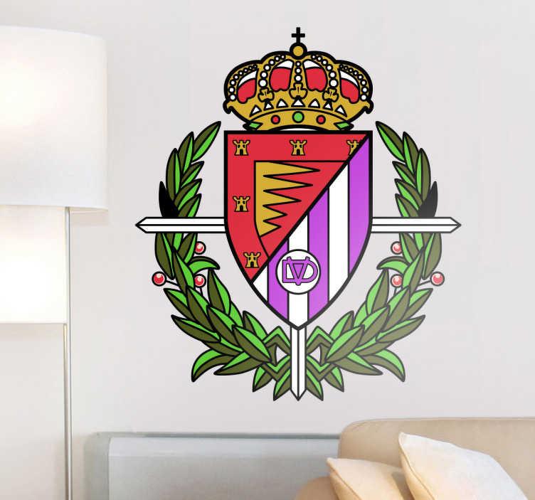 TenVinilo. Vinilo decorativo escudo Valladolid fútbol. Pegatina con el emblema de este histórico club castellano que juega sus partidos en Zorrilla.