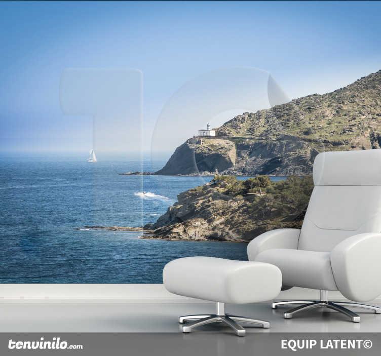 TenStickers. Wandtattoo Costa Brava. Dekorieren Sie Ihr Zuhause mit dieser tollen Fototapete, die einen wunderschönen Ausblick auf die Costa Brava zeigt.