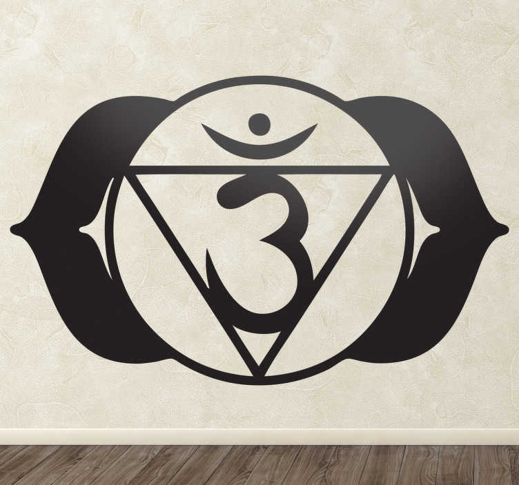 TenStickers. Chakra Ajna Decorative Decal. Decorate your home with this beautiful wall sticker from the Chakra Ajna (brow chakra).