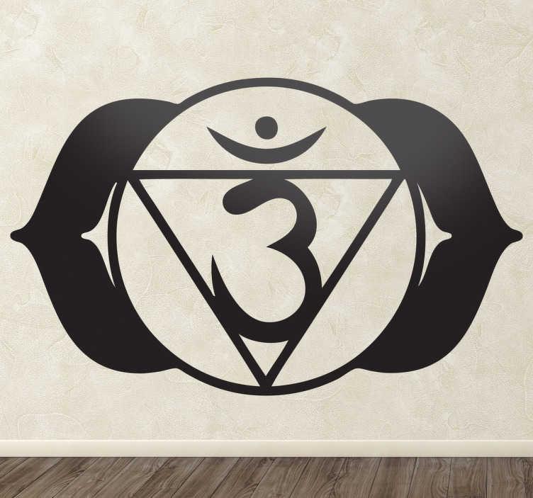 TenVinilo. Vinilo decorativo chakra ajna. Adhesivo monocolor con un símbolo típico de la medicina india.