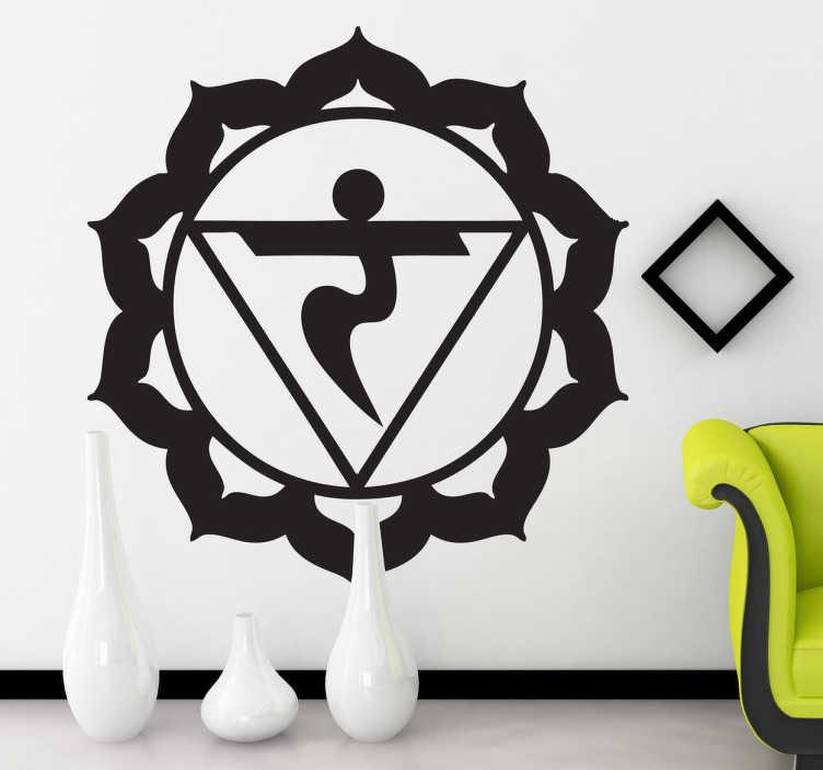 TenStickers. Sticker decorativo chakra manipuracakra. Adesivo decorativo che raffigura il simbolo del terzo centro di energia divina presente nel corpo umano.