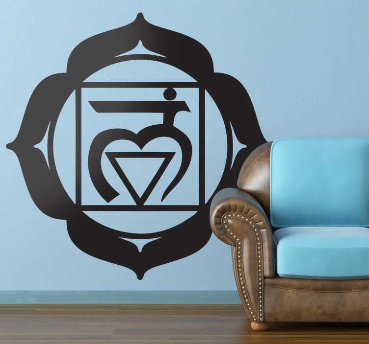 TenVinilo. Vinilo decorativo chakra muladhara. Símbolo clásico en adhesivo de un tipo de terapia curativa antigua de Asia.