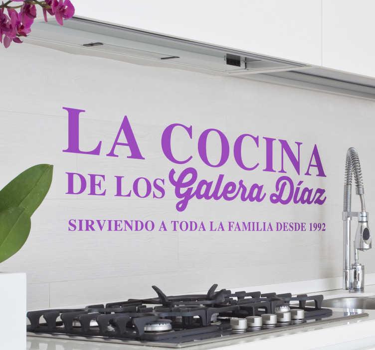 Vinilo decorativo cocina familiar tenvinilo - Papel de vinilo para cocinas ...