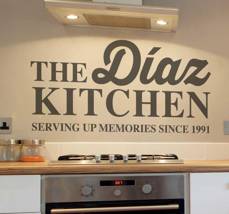 Sticker decorativo the family kitchen