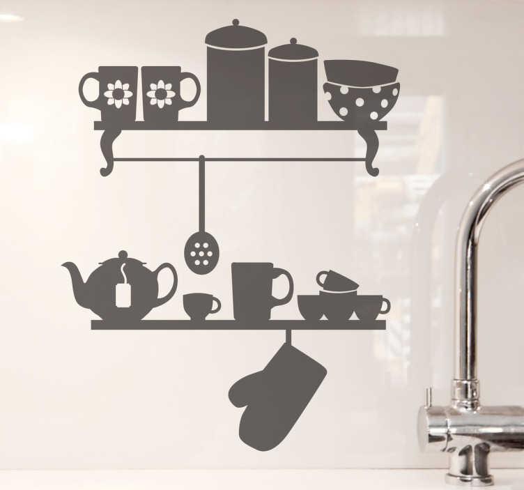Naklejka dekoracyjna półka kuchenna