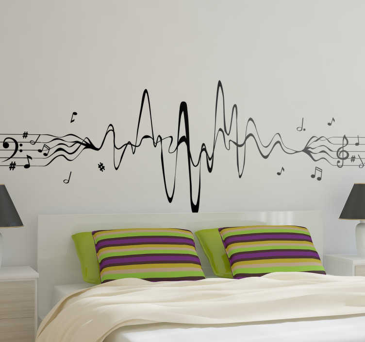 vinilo decorativo musical pentagrama sinusoidal tenvinilo ForVinilo Decorativo Musical Pared