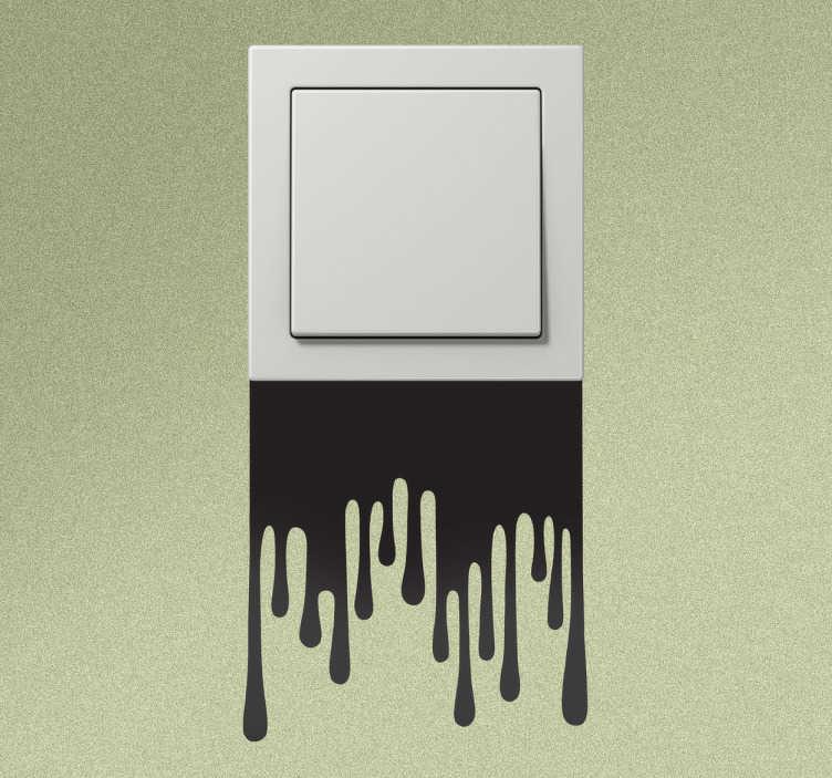 TenStickers. Sticker lichtschakelaar druipers verf. Decoreer de stopcontacten en lichtschakelaars in je woning op een leuke manier met deze muursticker! Originele wanddecoratie voor je woning.