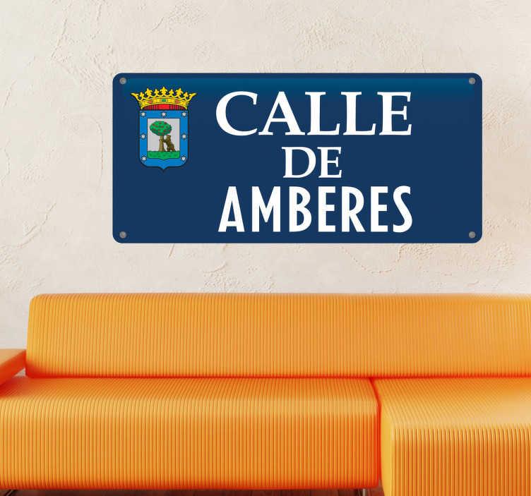 TenVinilo. Vinilo decorativo calle Madrid personalizada. Pegatinas personalizadas con las que decorar tu casa y sentir que estás recorriendo las calles de la capital de España.