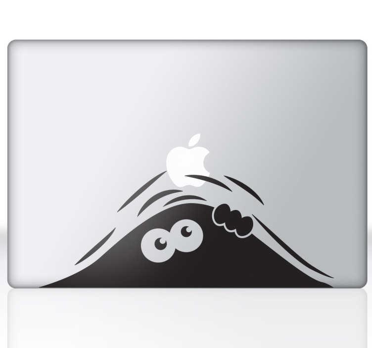 TenStickers. Sticker PC portable créature. Un mystérieux personnage se cache sous votre ordinateur portable... Une façon unique et originale de décorer votre PC portable.