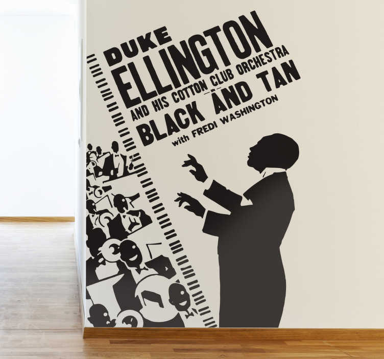 TenStickers. Duke Ellington Sticker. Spectacular sticker of this famous jazz musician conducting his orchestra.