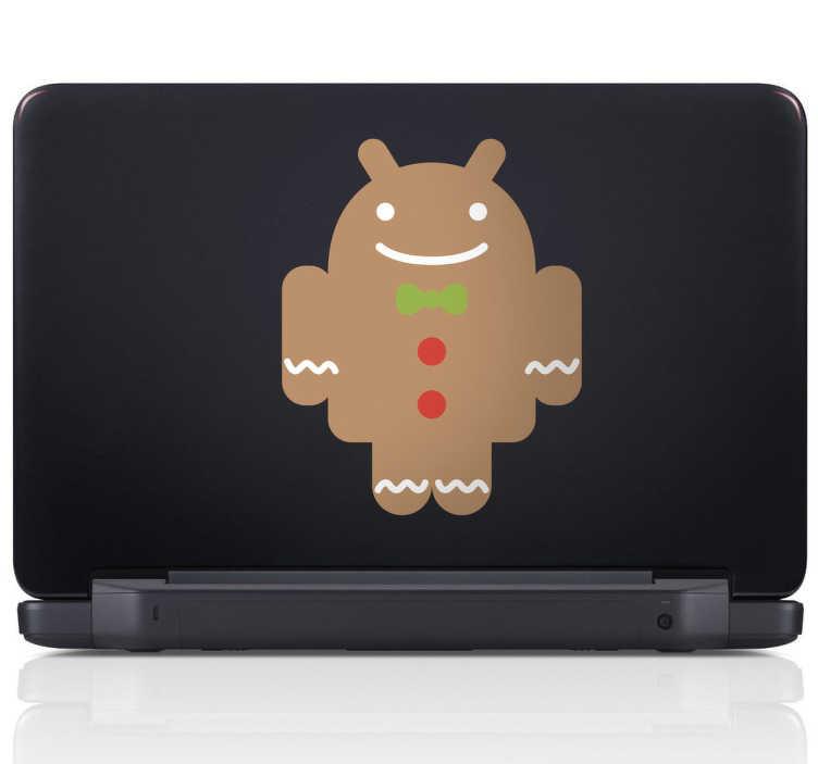 Vinilo para portátil galleta Android