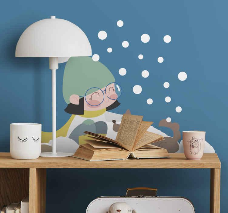 Naklejka Mała dziewczynka w zimowym stroju