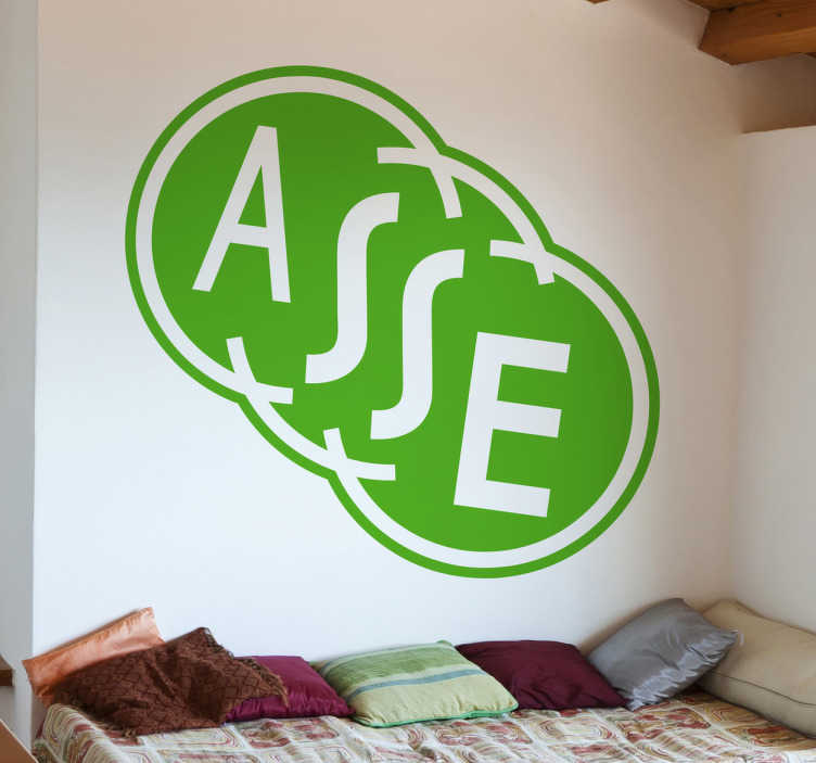 TenVinilo. Adhesivo decorativo logo Saint Etienne. Emblema adhesivo monocolor de este histórico club de fútbol de la liga francesa.