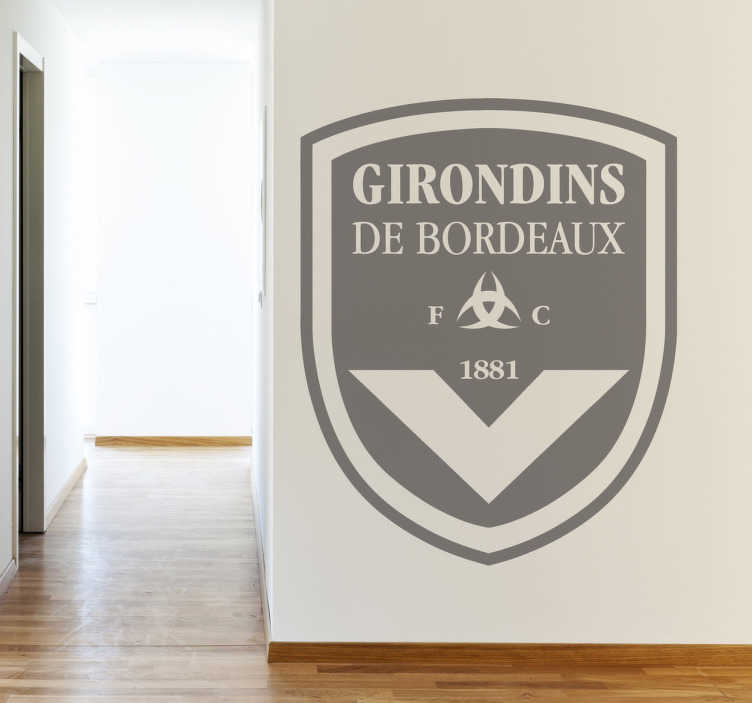TenStickers. Sticker logo Girondins de Bordeaux. Stickers représentant le logo de l'équipe des Girondins de Bordeaux.Sélectionnez la taille et la couleur de votre choix.Super idée déco pour les fans et supporters de l'équipe de foot.