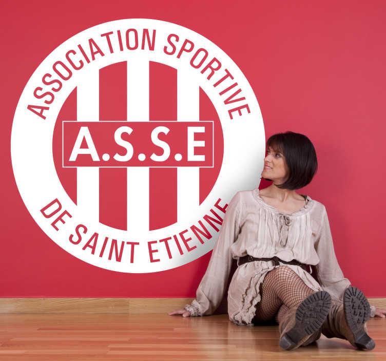 TenStickers. Sticker logo AS Saint Etienne. Autocollant mural représentant le logo de l'AS Saint-Etienne, un des plus grands clubs de l'histoire du foot français.