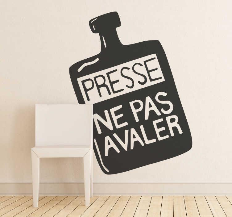TenVinilo. Vinilo decorativo ne pas avaler. Famosa pintura mural en adhesivo para que decores tu casa con lemas revolucionarios.