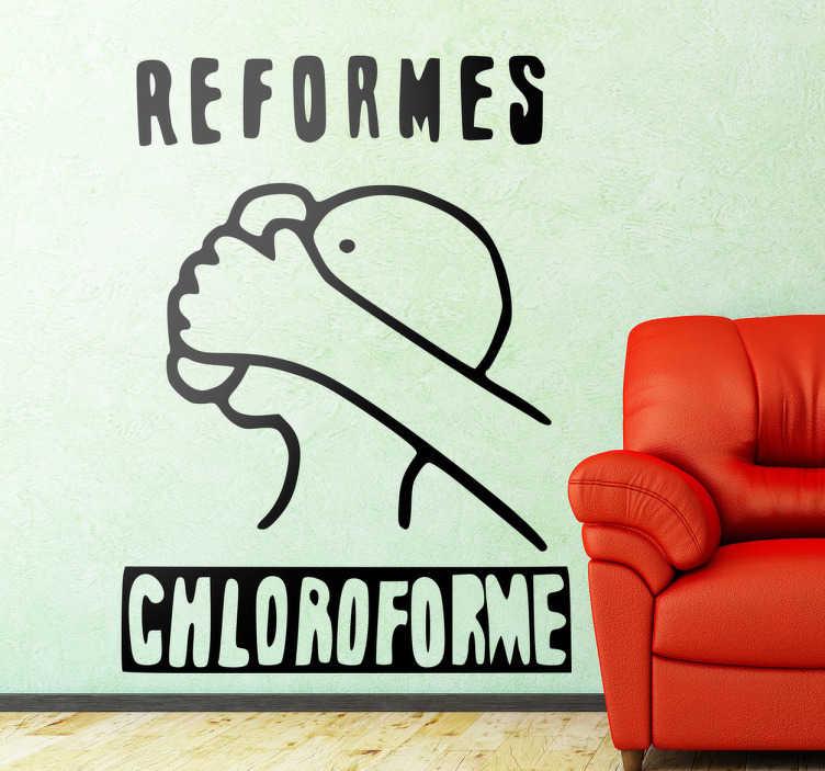 TenVinilo. Vinilo decorativo reformes chloroforme. Este dibujo se puede encontrar en cualquier esquina de París y lo ponemos a tu disposición en adhesivo.