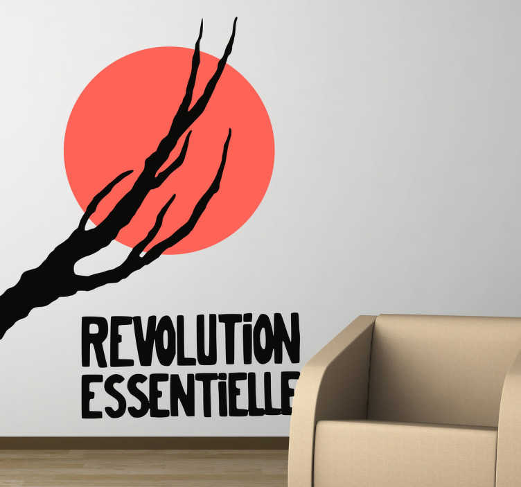 "TenStickers. Vinil decorativo Revolution Essentielle. Vinil decorativo da famosa pintura francesa ""Revolution Essentielle"". Adesivo de parede ideal paar decoração de interiores."
