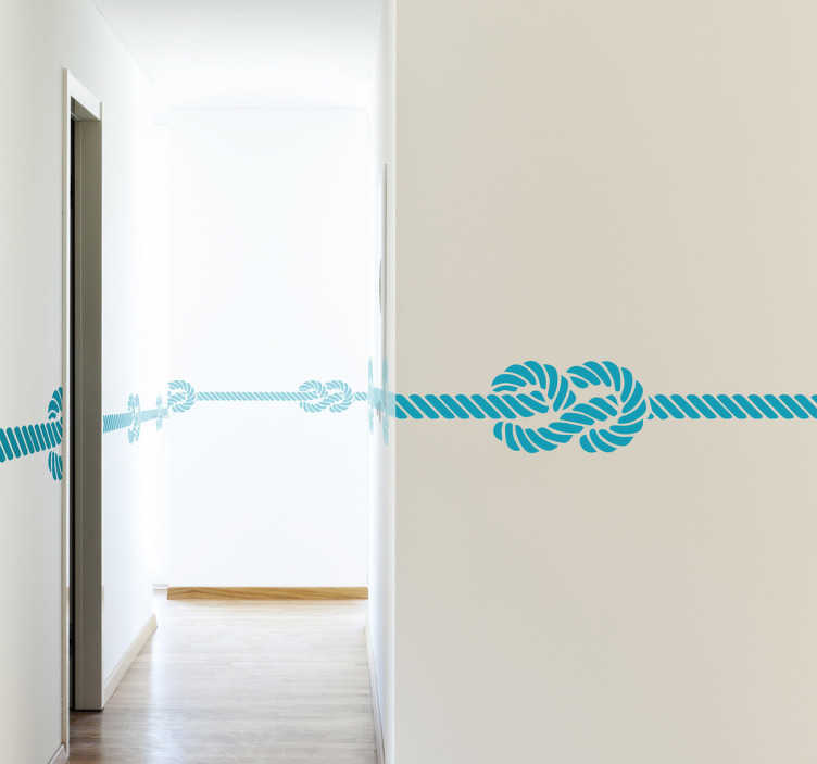 TenStickers. Marine Knot Wall Sticker. Decorate the wall of your home with design from our collection of sea wall stickers. A fantastic Marine knot border sticker to decorate your home. Super versatile and is available in 50 different colours.
