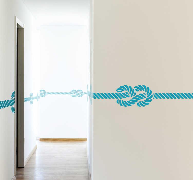 frise murale noeuds marins tenstickers. Black Bedroom Furniture Sets. Home Design Ideas