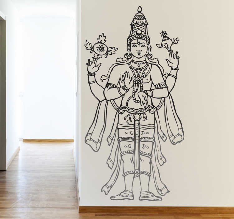 vishnu hindu god wall sticker - tenstickers