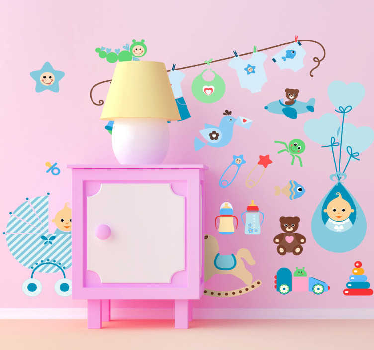 TenStickers. Nursery Kids Stickers. Decorate your child's room with these cute wall decals. Turn those empty walls into a creative set of colourful images that your child will love.